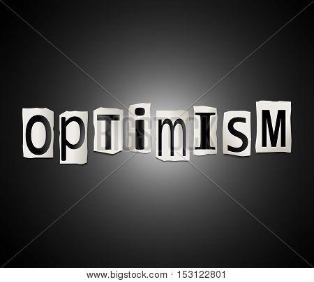 Optimism Word Concept.