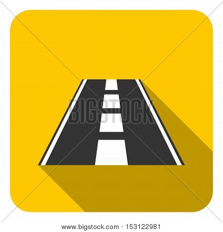 Road icon in flat style isolated on white background. Logistic symbol vector illustration.