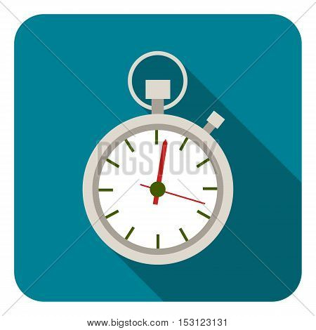 Stopwatch icon in flat style isolated on white background. Logistic symbol vector illustration.