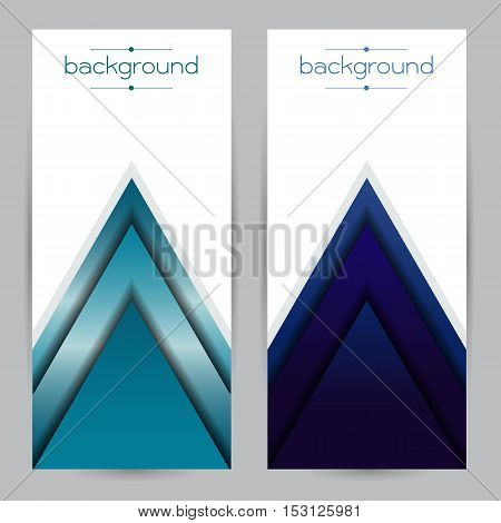 vector Realistic geometrical background blue with triangle Gradient strength durable