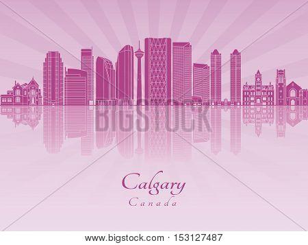 Calgary V2 Skyline In Purple Radiant Orchid