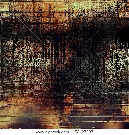 Mottled vintage background with grunge texture and different color patterns: yellow (beige); brown; gray; red (orange); black; cyan