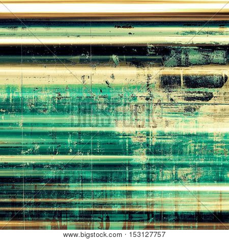 Decorative vintage texture or creative grunge background with different color patterns: yellow (beige); brown; green; blue; black; cyan