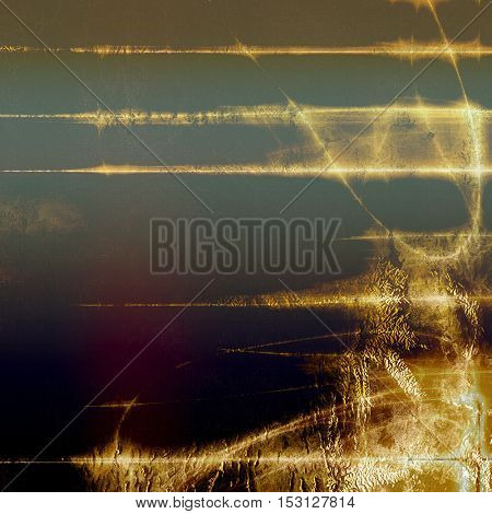 Grunge design composition over ancient vintage texture. Creative background with different color patterns: yellow (beige); brown; gray; purple (violet); black