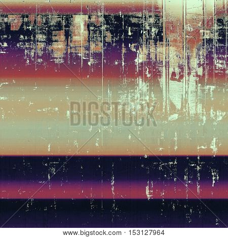 Retro design on grunge background or aged faded texture. With different color patterns: yellow (beige); brown; gray; blue; red (orange); purple (violet)