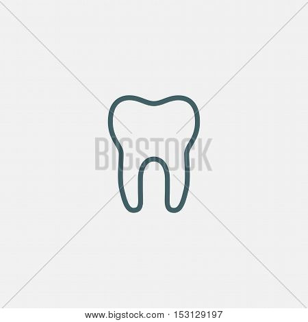 tooth vector icon isolated on white background