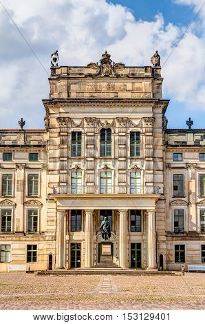 Historic Ludwigslust Palace In Northern Germany