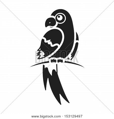 Parrot icon in black style isolated on white background. Animals symbol vector illustration.