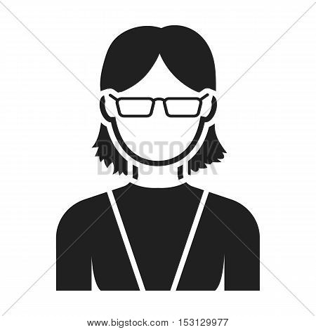 Grandmother icon in black style isolated on white background. Avatar symbol vector illustration.