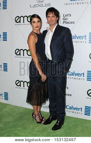 LOS ANGELES - OCT 22:  Nikki Reed, Ian Somerhalder at the 26th Annual Environmental Media Awards at Warner Brothers Studio on October 22, 2016 in Burbank, CA