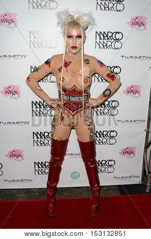 LOS ANGELES - OCT 21:  Brooke Candy at the Marco Marco Fashion Show at Globe Theater on October 21, 2016 in Los Angeles, CA
