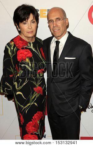 LOS ANGELES - OCT 21:  Marilyn Katzenberg, Jeffrey Katzenberg at the 2016 GLSEN Respect Awards at Beverly Wilshire Hotel on October 21, 2016 in Beverly Hills, CA