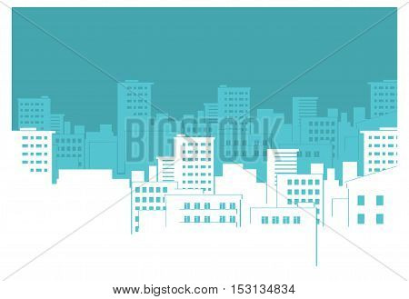 flat background with a urban city. town.
