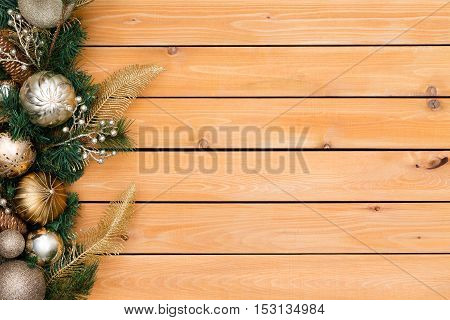 Festive Background Featuring Christmas Garland