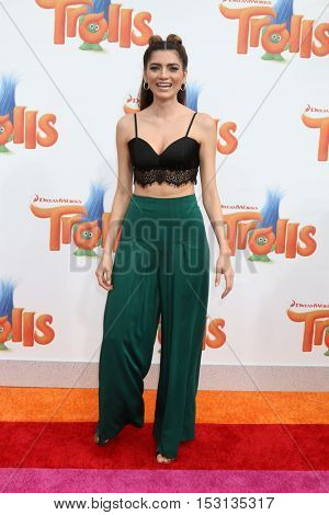 LOS ANGELES - OCT 23:  Blanca Blanco at the Trolls Premiere at Village Theater on October 23, 2016 in Westwood, CA