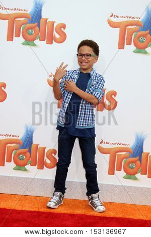 LOS ANGELES - OCT 23:  Sage Correa at the Trolls Premiere at Village Theater on October 23, 2016 in Westwood, CA