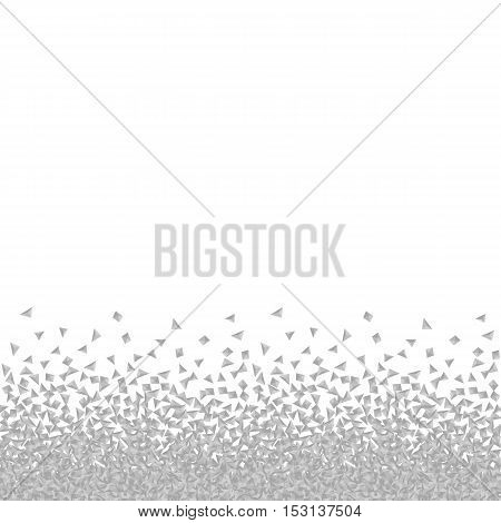 Isolated abstract grey and white color dust background. Seamless dotted texture. Messy powder backdrop. Unusual germs image. Vector dust illustration