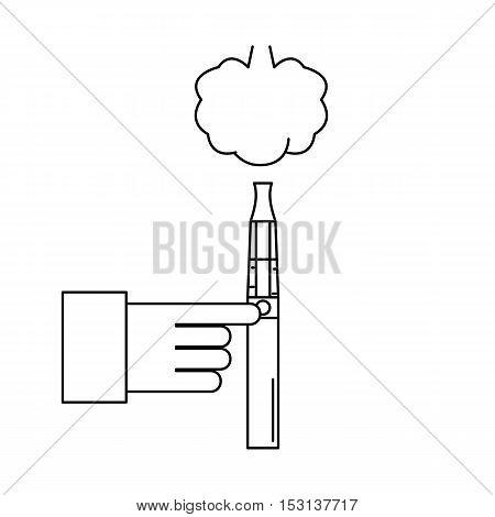 Electronic cigarette for smoking. Smoking. Vector illustration.