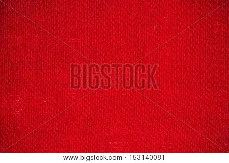 Macro flat view of wool fabric surface in wine red