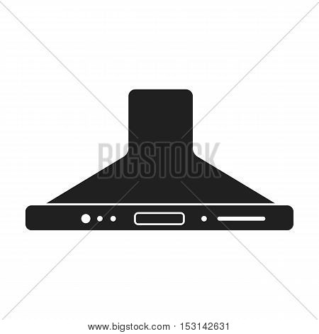 Exhaust hood icon in black style isolated on white background. Household appliance symbol vector illustration.