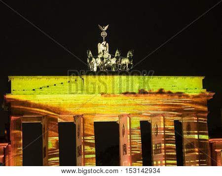 City of Berlin in Germany at nigth