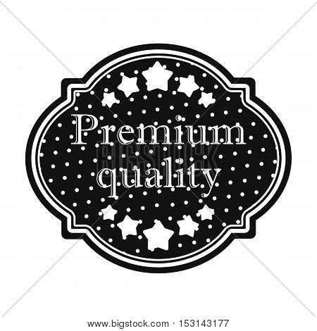 Premium quality icon in black style isolated on white background. Label symbol vector illustration.
