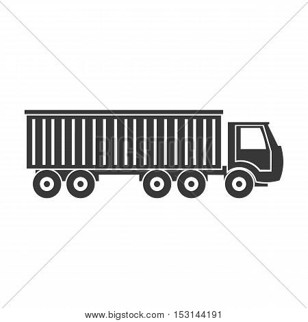 Truck delivery icon in black style isolated on white background. Logistic symbol vector illustration.