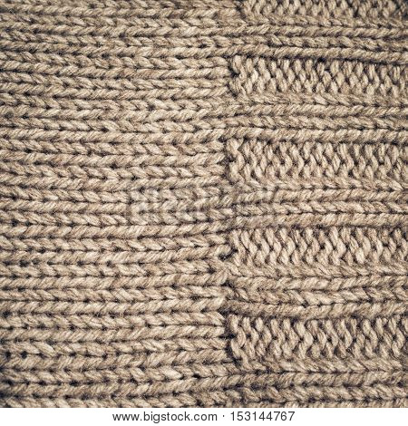 Knitted fabric wool texture close up as a background