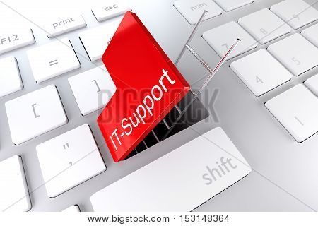 red enter key open with ladder in underpass it support 3D Illustration
