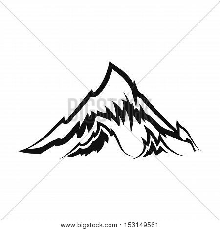 Alps icon in black style isolated on white background. Oktoberfest symbol vector illustration.