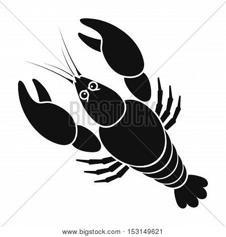 Boiled lobster icon in black style isolated on white background. Oktoberfest symbol vector illustration.