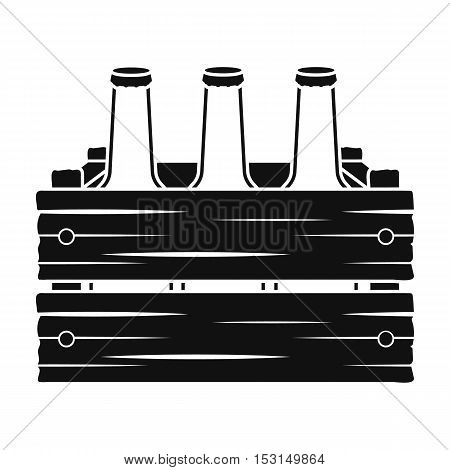 Box with beer icon in black style isolated on white background. Oktoberfest symbol vector illustration.