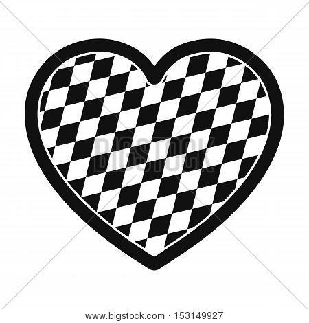 Oktoberfest heart icon in black style isolated on white background. Oktoberfest symbol vector illustration.