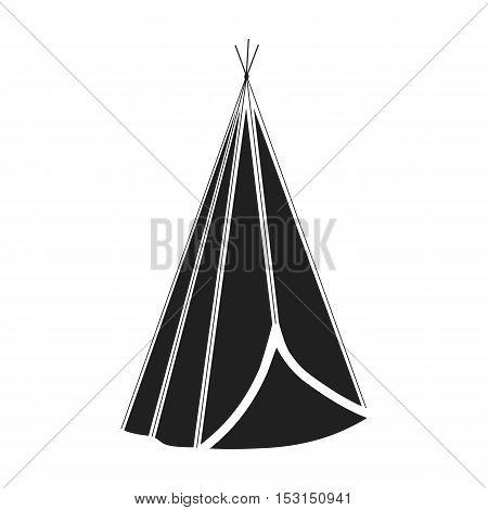 Wigwam icon in black style isolated on white background. Wlid west symbol vector illustration.