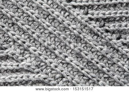 Texture of knitted woolen fabric for wallpaper