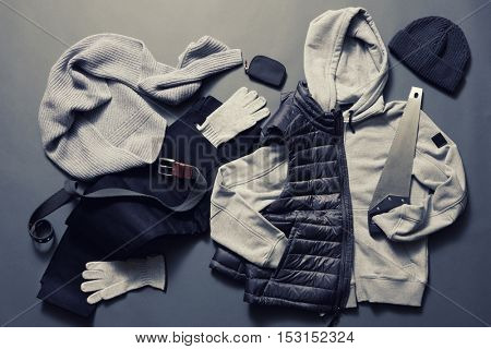 Winter men's clothes and accessories