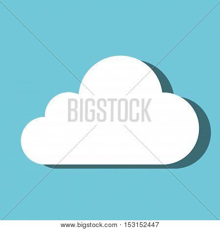 cloud computing symbol isolated vector illustration design