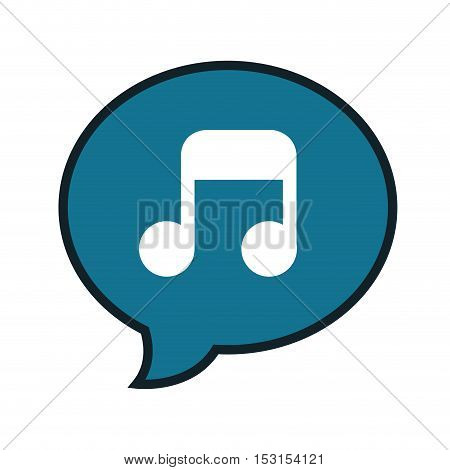 music note sound isolated icon vector illustration design