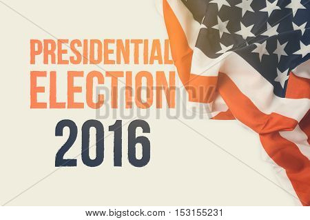 Presidential Election 2016 background with USA flag