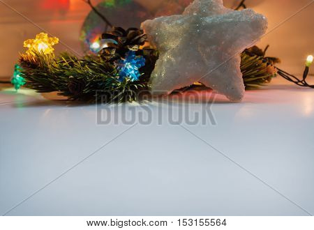 winter holidays background with white area for wishes