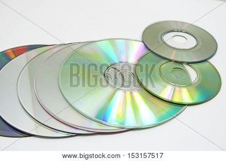 Compact Discs Abstract Composition