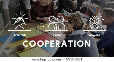Business Collaboration Teamwork Corporation Concept