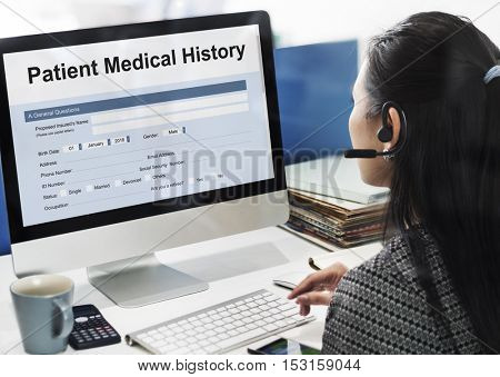 Patient Medical History Form Concept