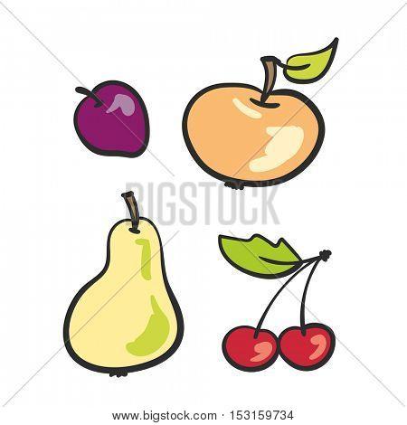 fruit set doodle