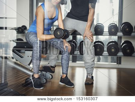 Gym Wellness Fitness Athletic Bodybuilding Hobby Concept