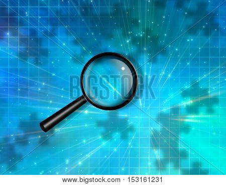 Magnify Glass Puzzle Piece Background  3D Render