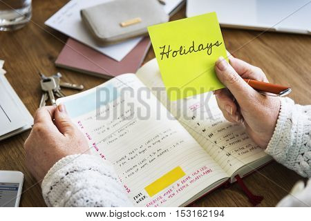 Holidays Festival Journey Recreation Relaxation Concept