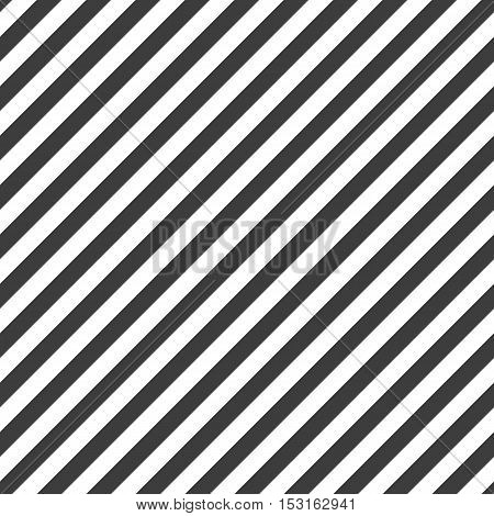 Diagonal black lines pattern. Vector seamless background.