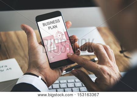Goals Performance Report Business Plan Concept