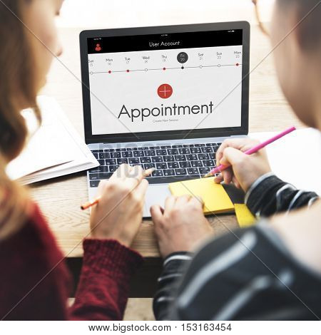 Appointment Calendar Events Concept